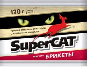 """""""Super-Cat"""" мягкие брикеты. Отрава для крыс и мышей."""